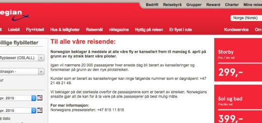 Ny Streik i Norwegian